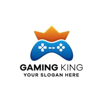 Plantilla de logotipo gaming king gradient