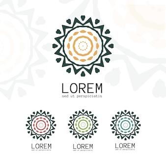 Plantilla de logotipo geométrico simple.