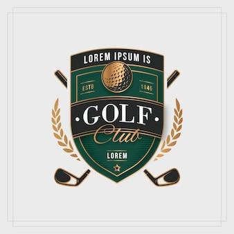 Plantilla de logotipo de golf degradado