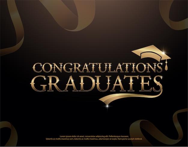 Plantilla de logotipo graduado de felicitaciones