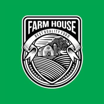 Plantilla de logotipo de granja