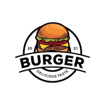 Plantilla de logotipo de hamburguesa