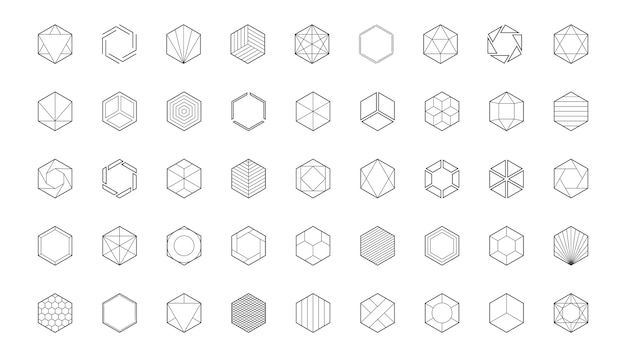 Plantilla de logotipo hexagonal. icono de panal. elementos de diseño creativo.