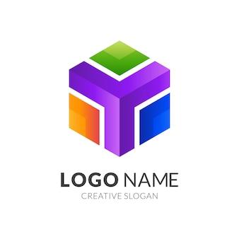 Plantilla de logotipo hexagonal