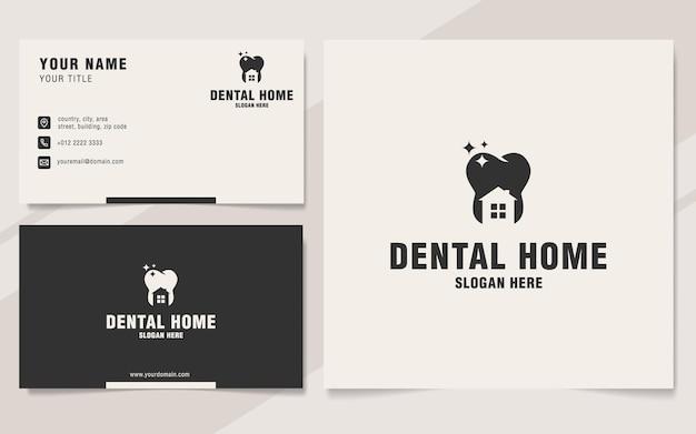 Plantilla de logotipo de hogar dental en estilo monograma