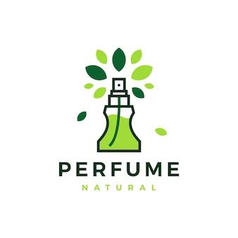 Plantilla de logotipo de hoja de árbol de perfume natural