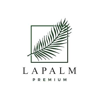 Plantilla de logotipo de hoja de palma