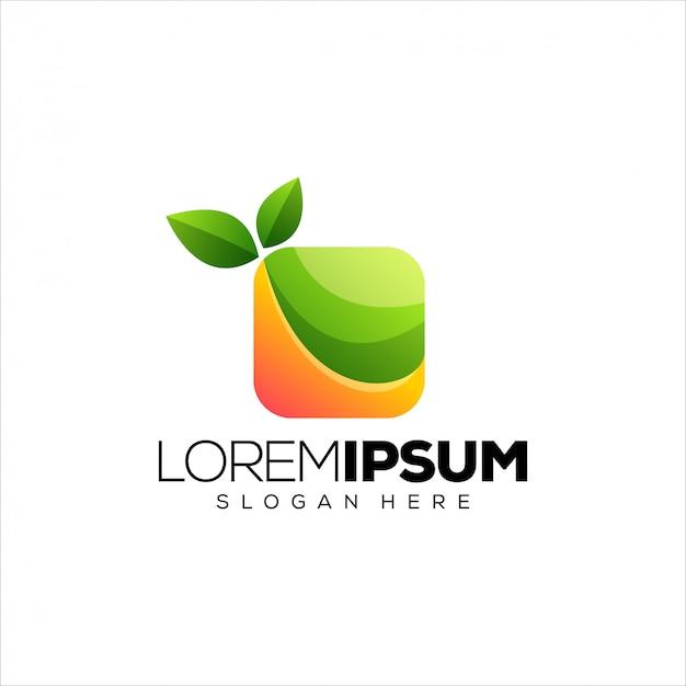 Plantilla de logotipo de hojas