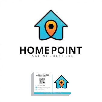 Plantilla de logotipo de home point