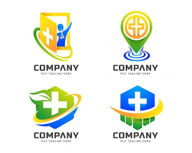 Plantilla de logotipo de hospital médico para empresa