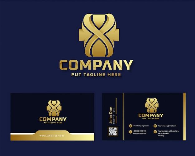 Plantilla de logotipo de hospital médico de lujo premium para empresa