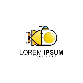 Plantilla de logotipo de huevos submarinos