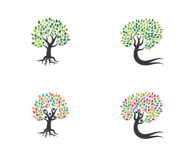 Plantilla de logotipo de icono de árbol