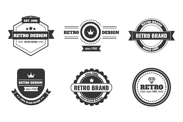 Plantilla de logotipo de identidad corporativa clásica