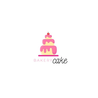 Plantilla de logotipo de identidad corporativa delicioso pastel