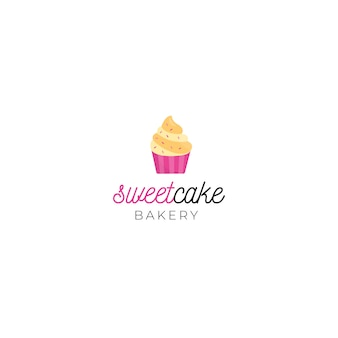 Plantilla de logotipo de identidad corporativa de dulce pastel