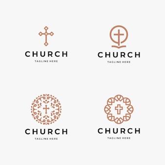Plantilla de logotipo de iglesia