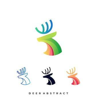 Plantilla de logotipo de ilustración de ciervo