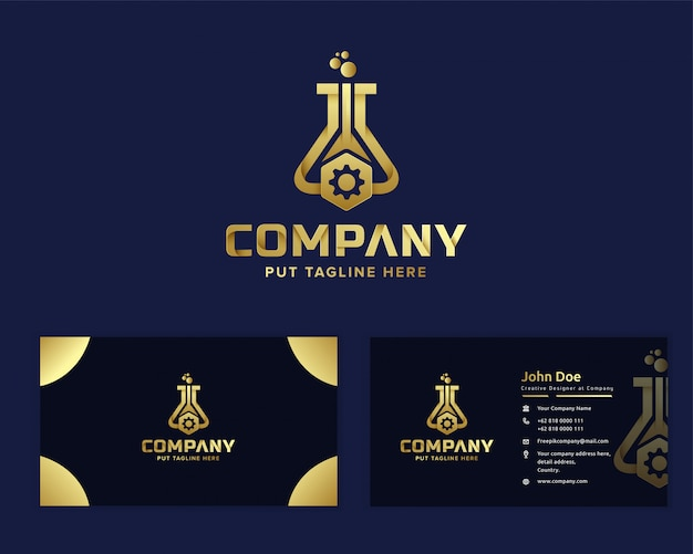 Plantilla de logotipo de ingeniero de laboratorio para empresa