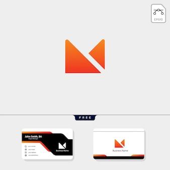 Plantilla de logotipo inicial m mínima