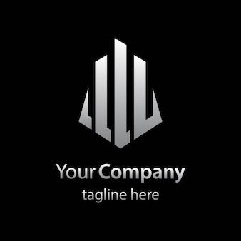 Plantilla de logotipo inmobiliario con isotipo abstracto