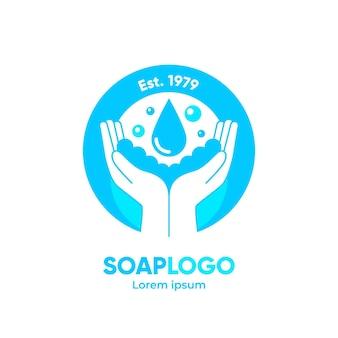 Plantilla de logotipo de jabón dibujado a mano