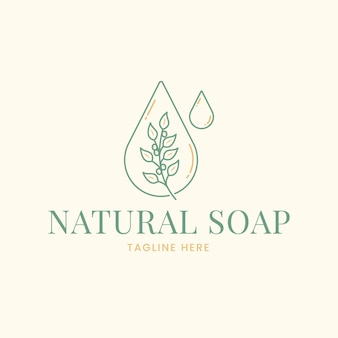 Plantilla de logotipo de jabón dibujado
