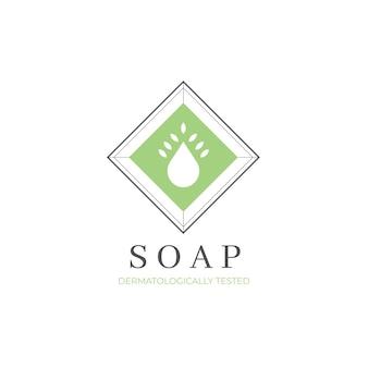 Plantilla de logotipo de jabón minimalista