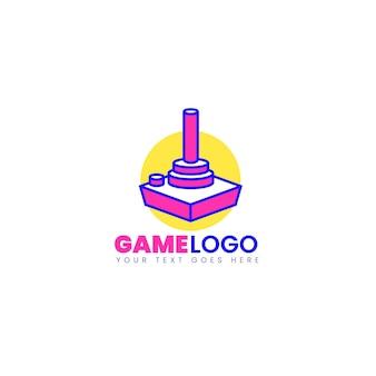 Plantilla de logotipo de juego dibujado
