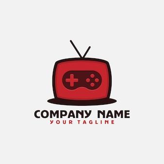 Plantilla de logotipo de juego de televisión