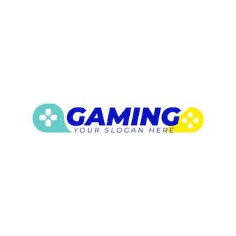 Plantilla de logotipo para juegos