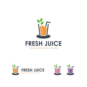 Plantilla de logotipo de jugo de frash