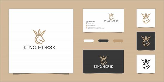 Plantilla de logotipo de king horse