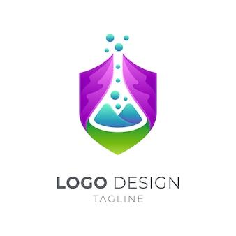 Plantilla de logotipo de laboratorio de seguridad