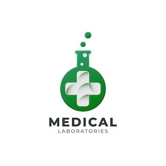Plantilla de logotipo de laboratorios médicos