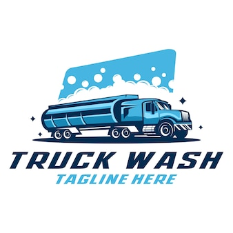 Plantilla de logotipo de lavado de camiones