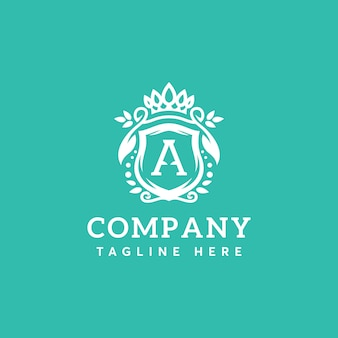 Plantilla de logotipo de letra a de belleza