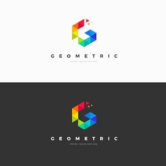 Plantilla de logotipo de letra g geométrica