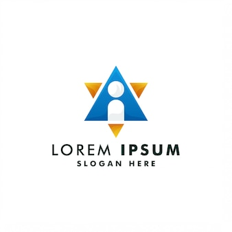 Plantilla de logotipo de letra ilustración del icono del símbolo del alfabeto