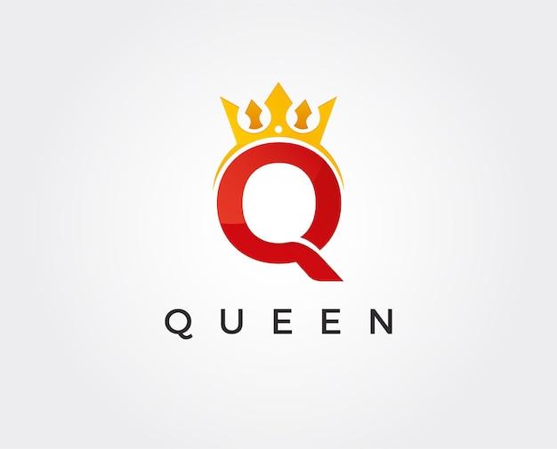 Plantilla de logotipo de letra mínima q