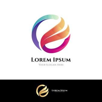 Plantilla de logotipo de letra o y ala