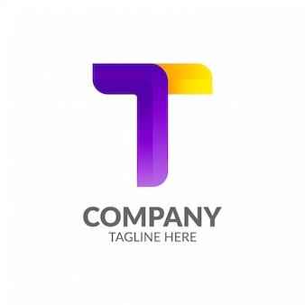 Plantilla de logotipo de letra t