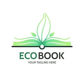 Plantilla de logotipo de libro degradado
