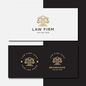 Plantilla de logotipo de línea de bufete de abogados