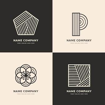 Plantilla de logotipo lineal abstracto