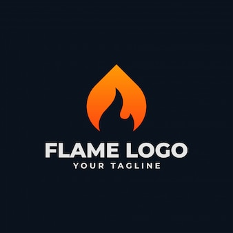Plantilla de logotipo llama abstracta