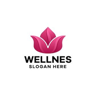 Plantilla de logotipo de lotus gradient