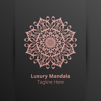 Plantilla de logotipo de mandala de lujo
