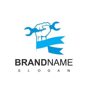 Plantilla de logotipo de manitas