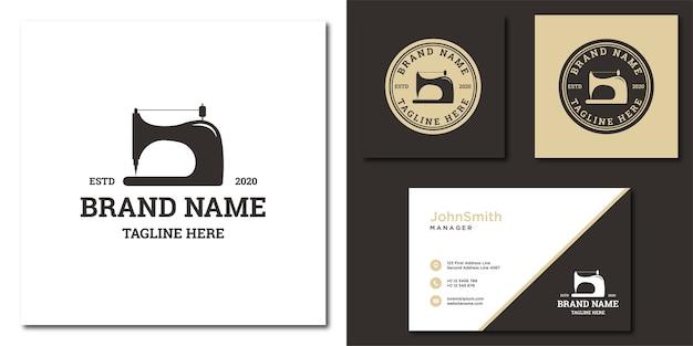 Plantilla de logotipo de máquina de coser